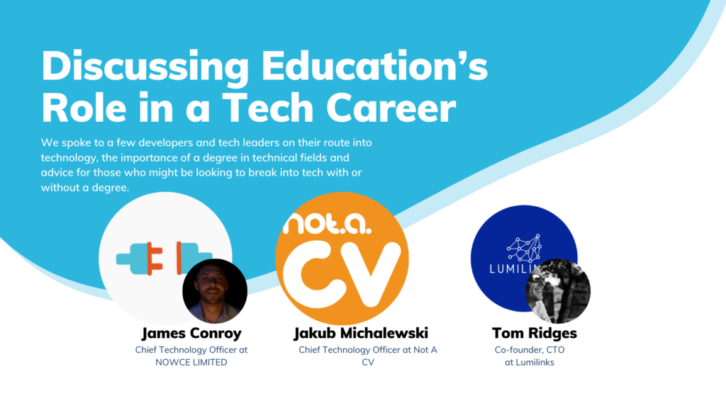 Discussing Education's Role in a Tech Career